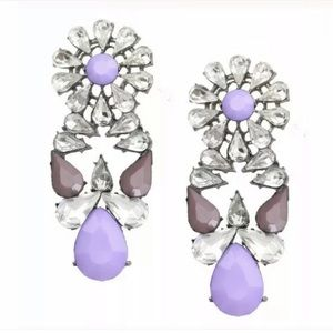 Purple Jewel Earrings